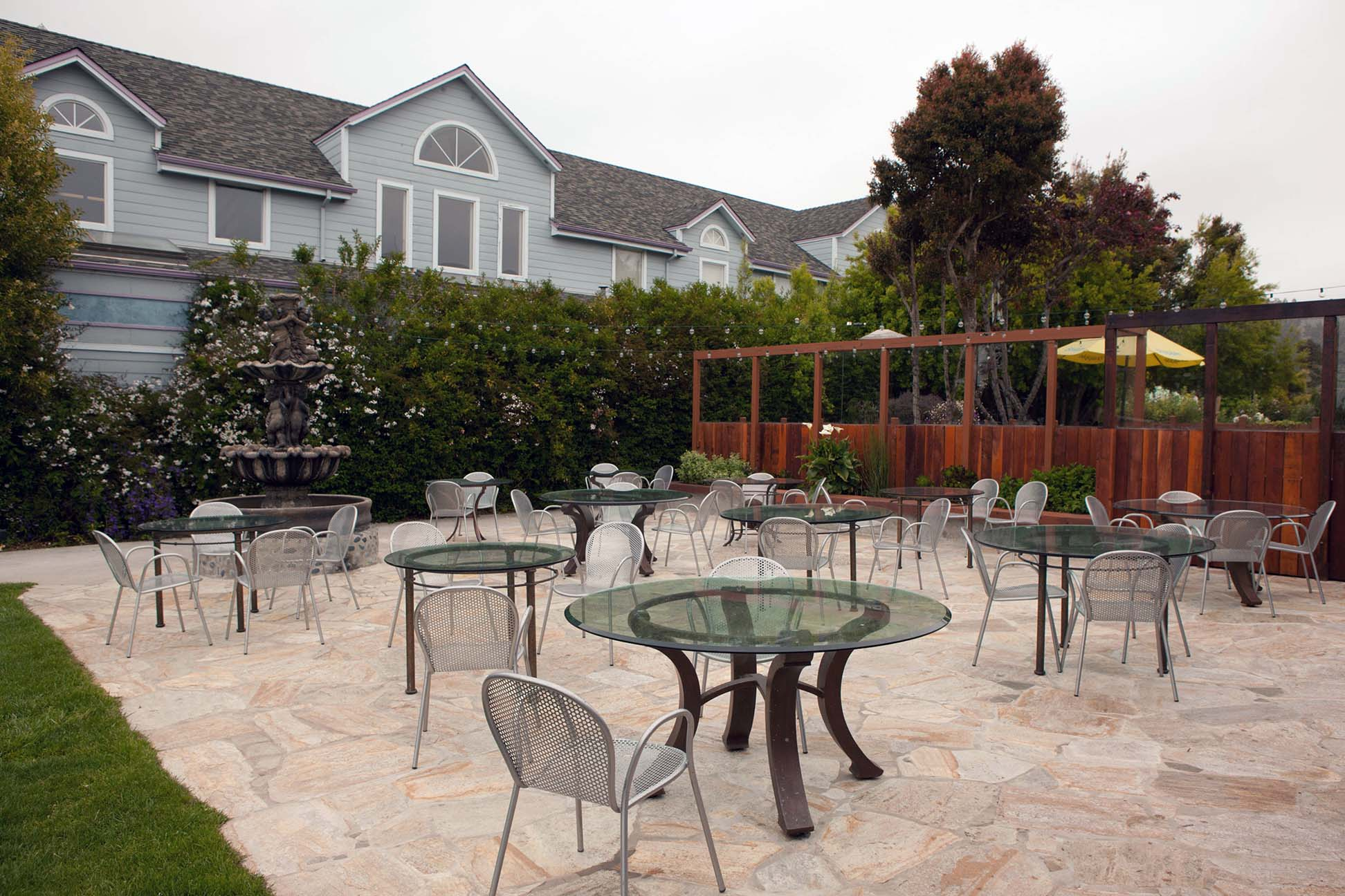 hotel patio photo