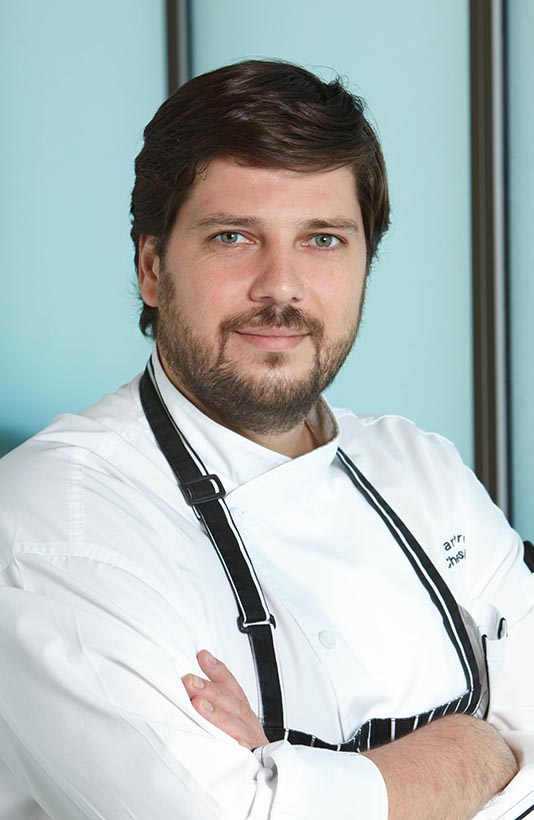 chef professional headshot at a conference