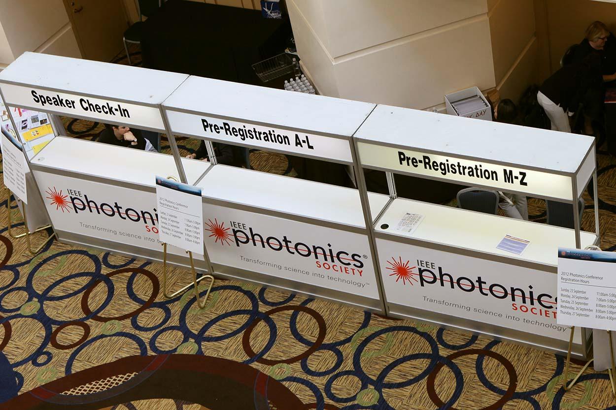 conference registration tables