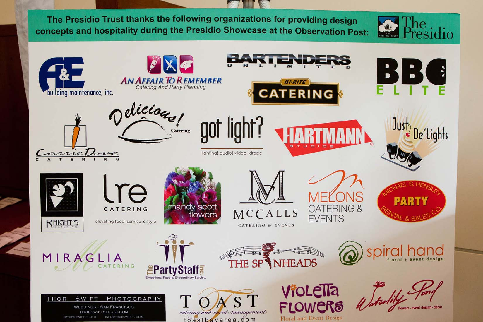 event sponsors display
