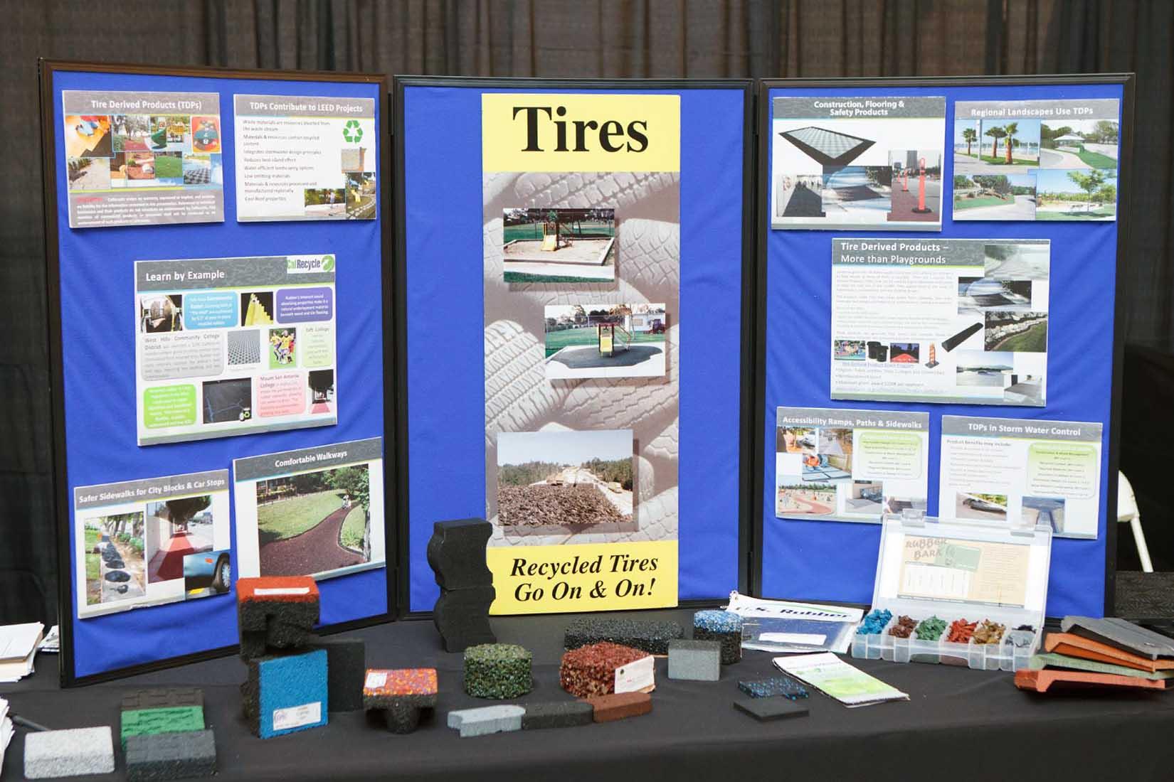 vendor display of tires
