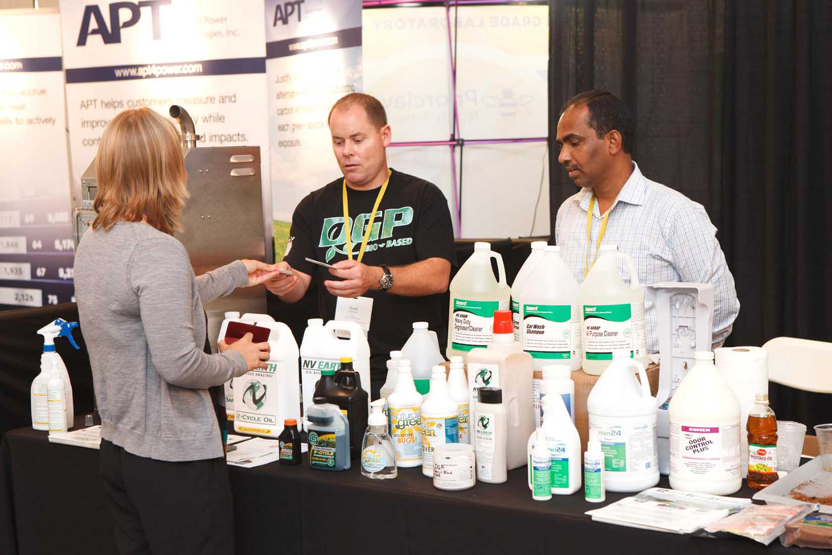 vendors at the seminar presenting their products