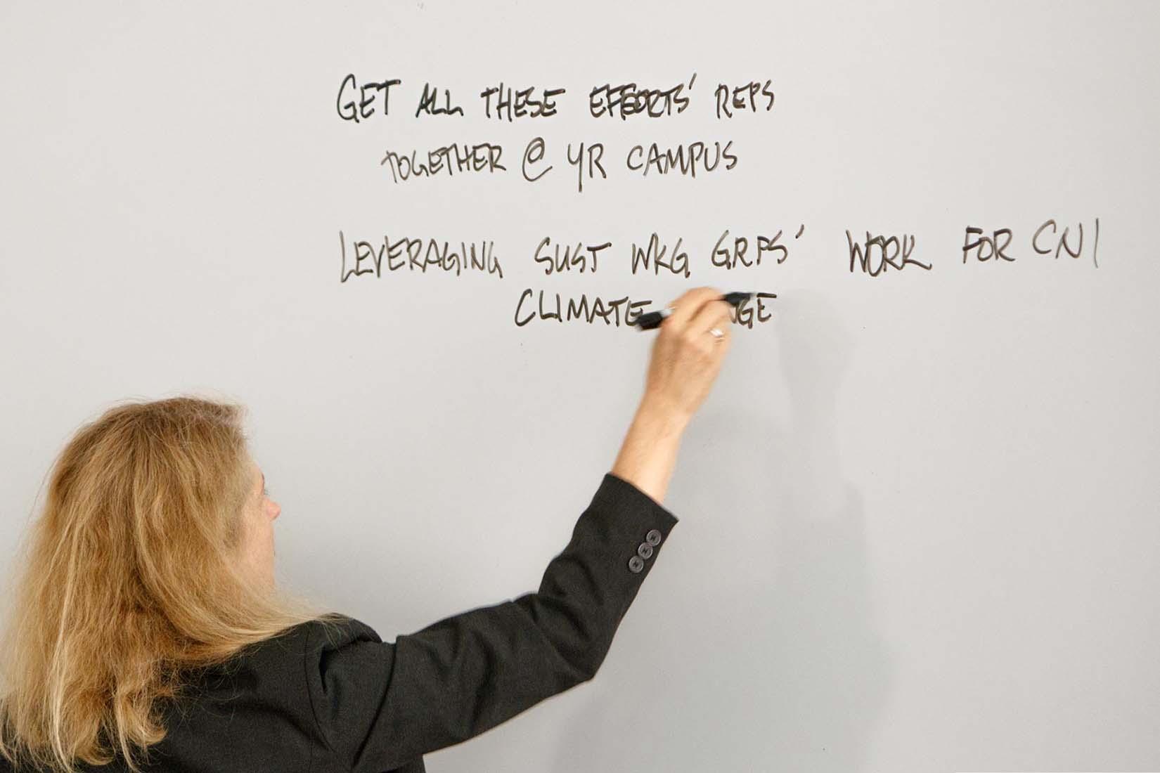 speaker writing on the board