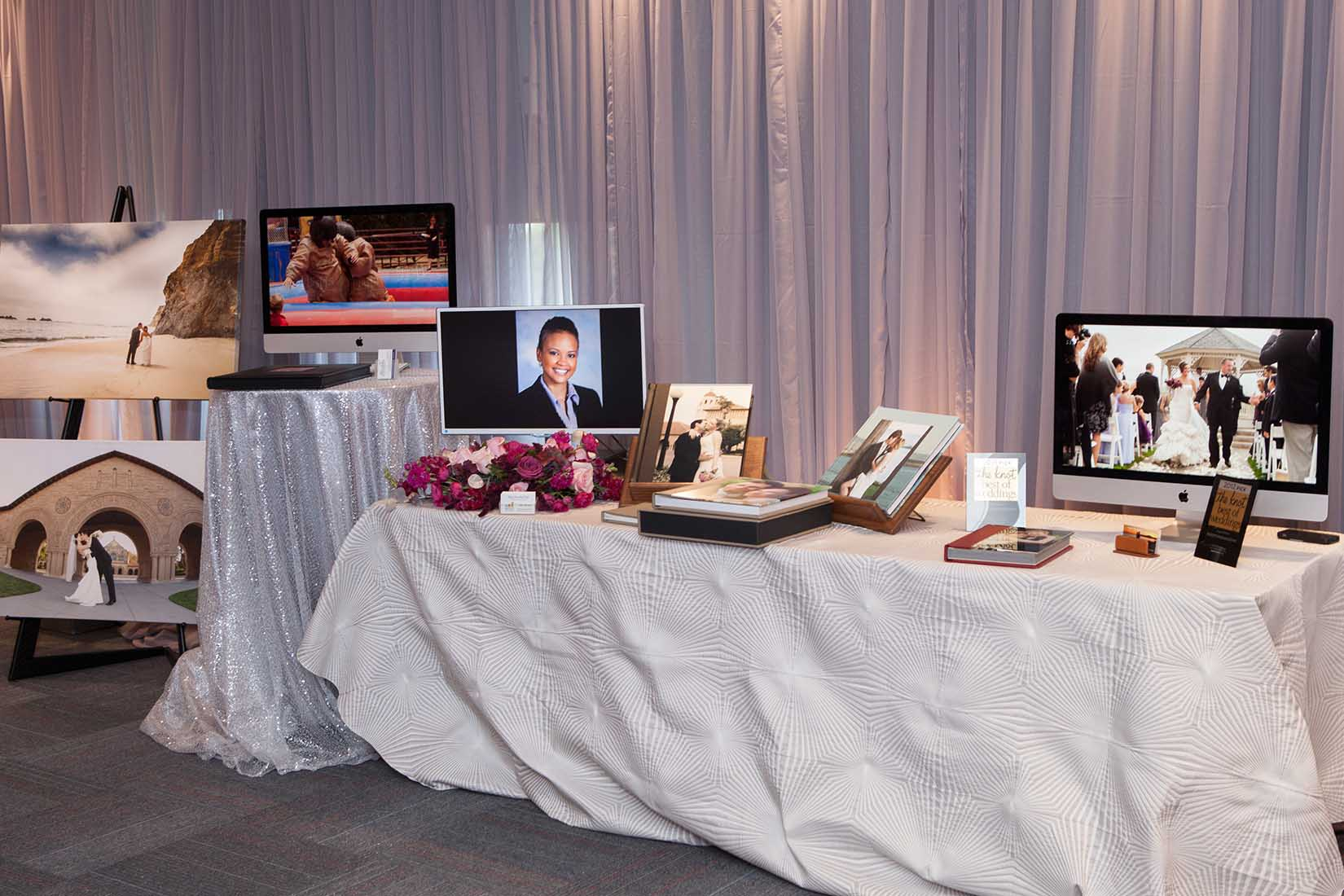 hagop's photography display during the event as a vendor