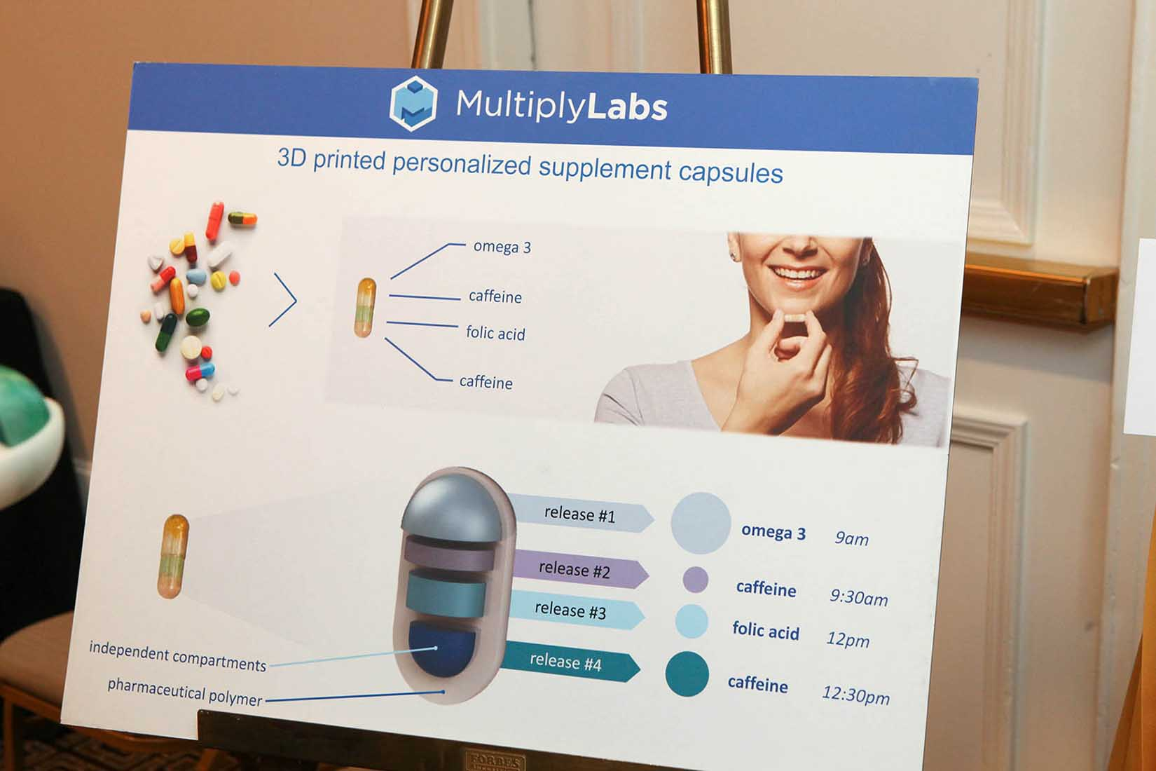 vendor display of personalized capsules