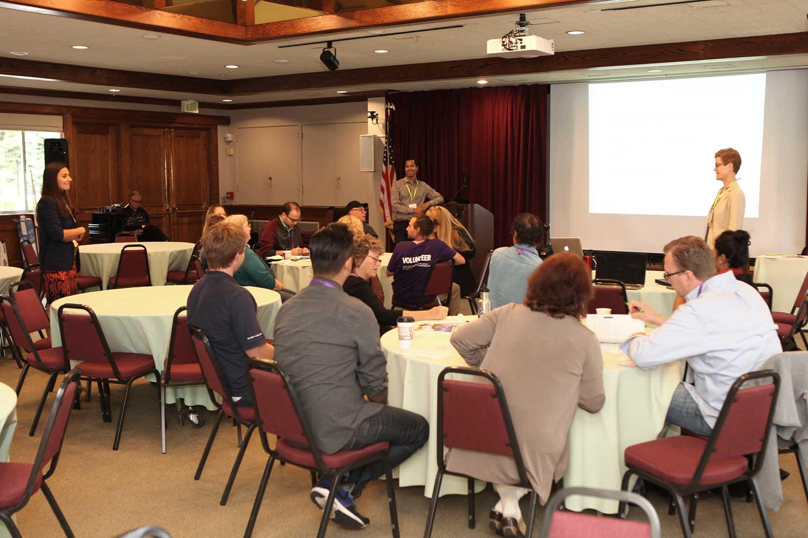 small seminar attendees