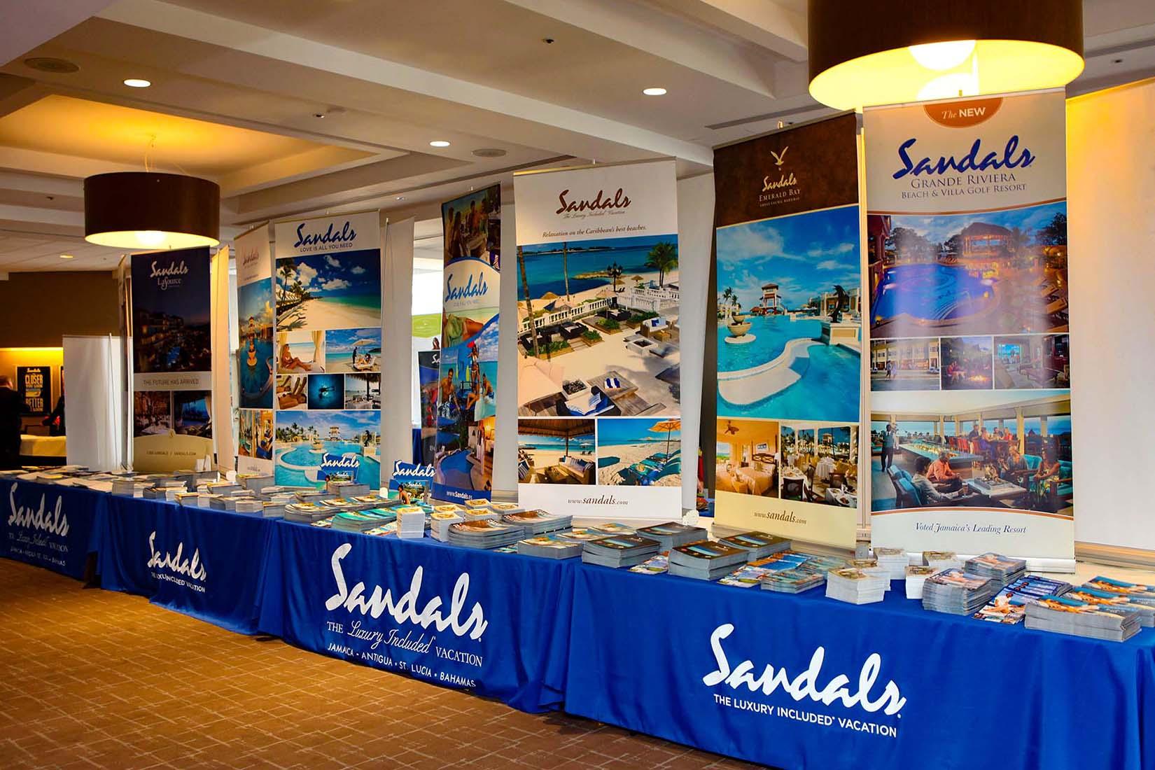 vendor display tables