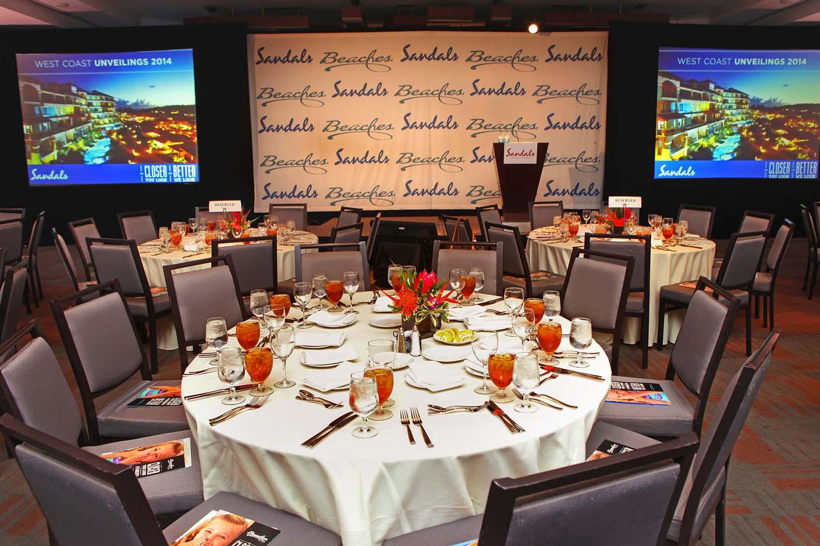 parc 55 hotel banquet room set up