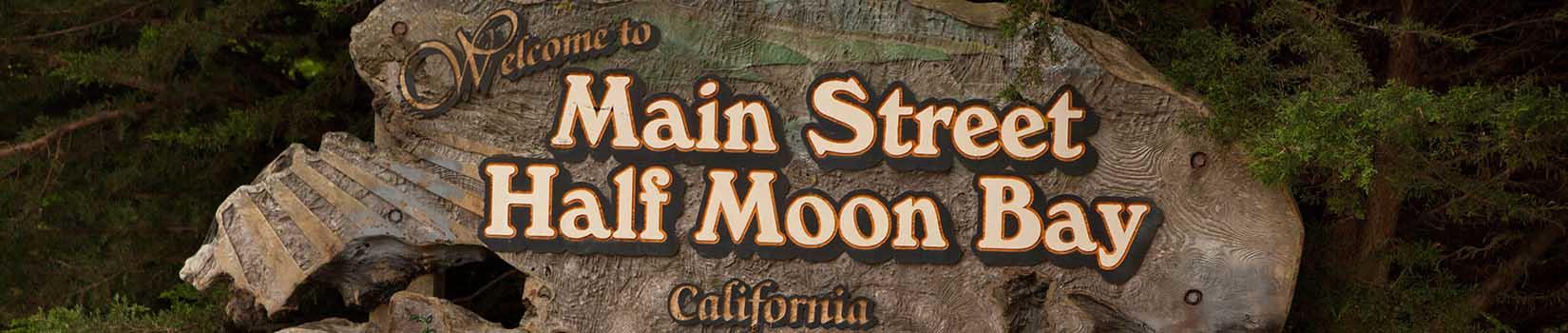 half moon bay downtown sign
